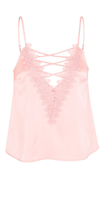 Top corto rosa claro tocamiz pink.