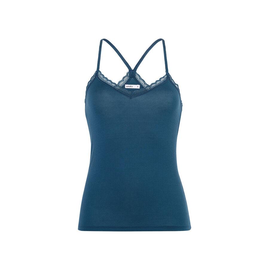 Top azul pavo real vitamiz;