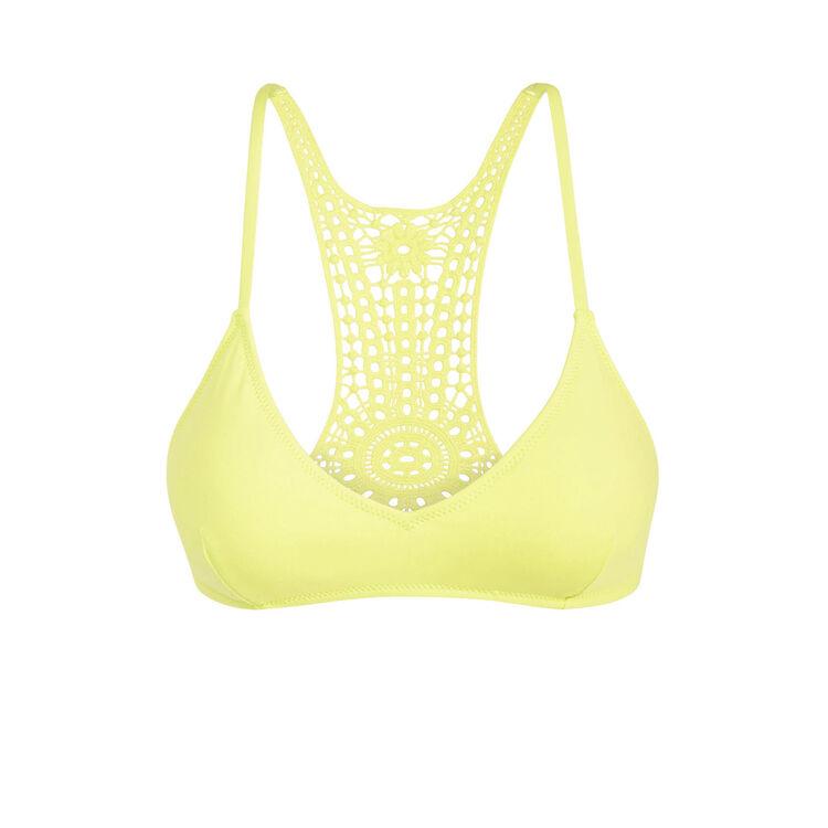 Parte de arriba de bikini amarilla cookiz;