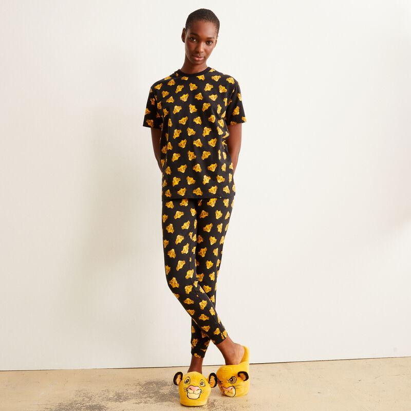 Pantalón con motivos de Simba - negro;
