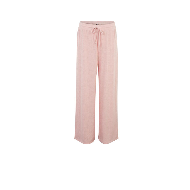 pantalón ancho con cordón para atar - rosa;