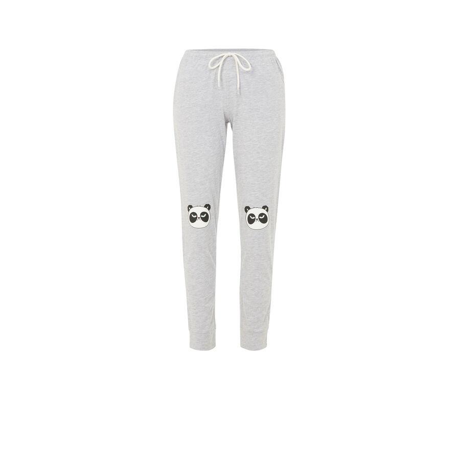 Pantalón gris pandapiliz;