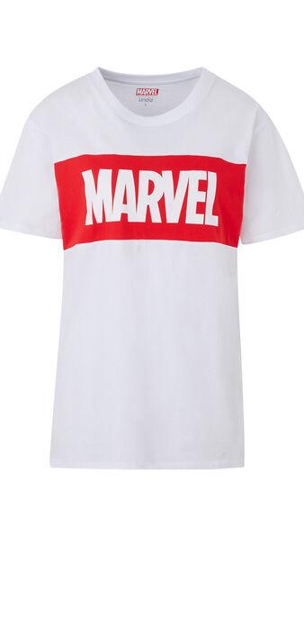 Camiseta con estampado marvel skatwiz blanco.
