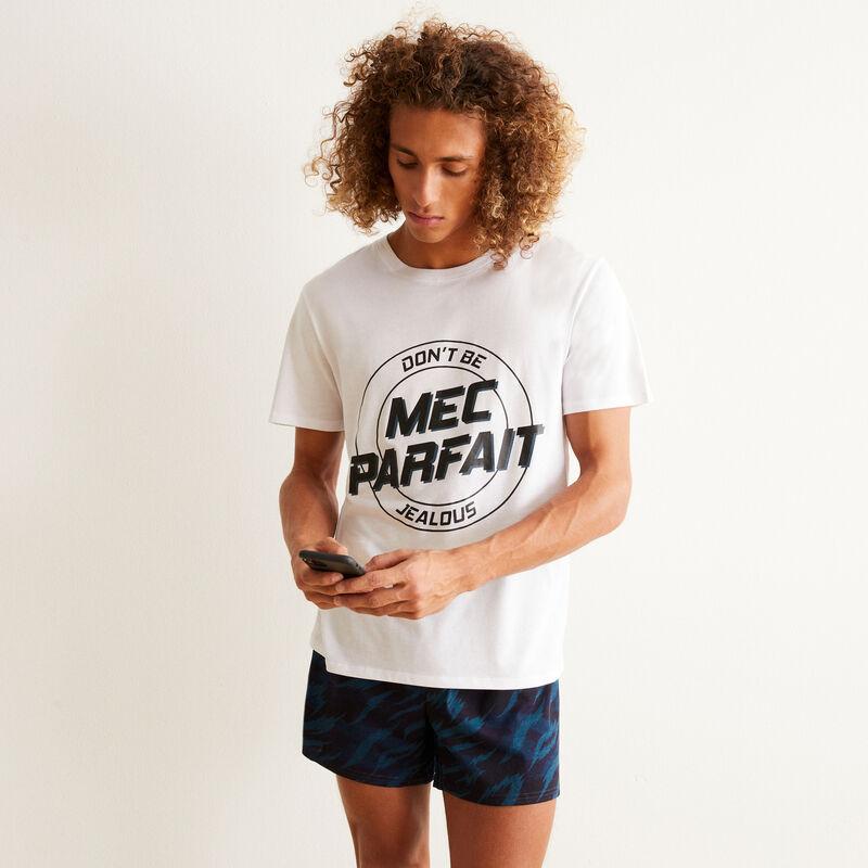 Juego de pijama shorts mec parfait - blanco;