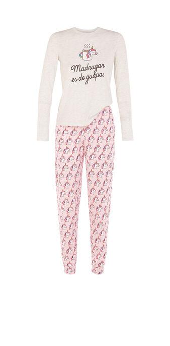 Conjunto de pijama gris claro madrugariz grey.