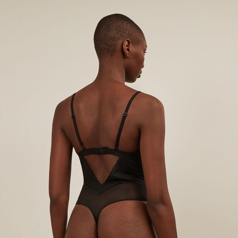 Body de rejilla sin aros - negro ;