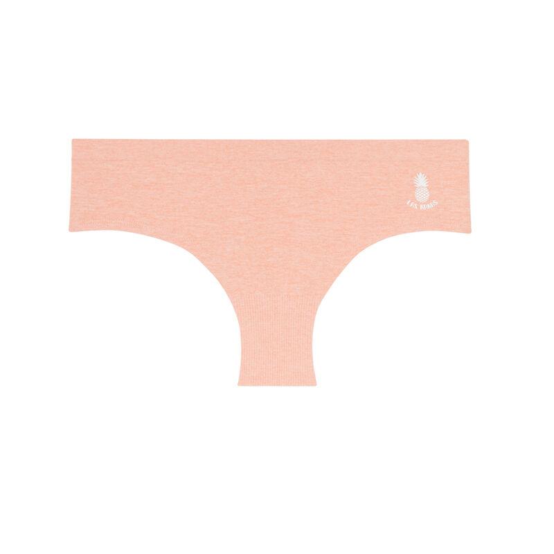 Braguita culotte lisa sin costuras con detalle de piñas - rosa;