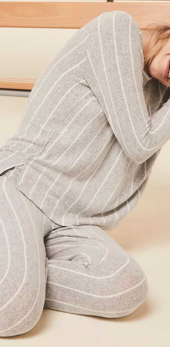 Pantalón de rayas quodistripiz gris.