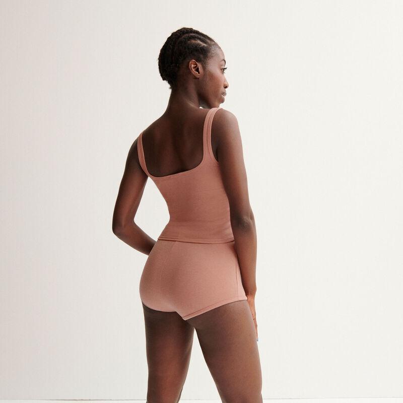 "Shorts de talle alto Aya x undiz ""jolie nana"" de encaje - rosa nude;"
