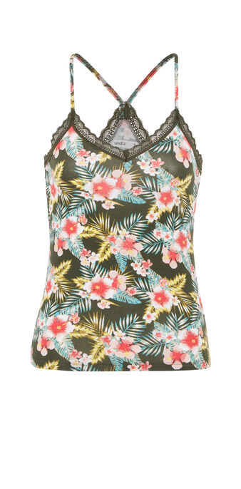 Top caqui tropicaliz green.