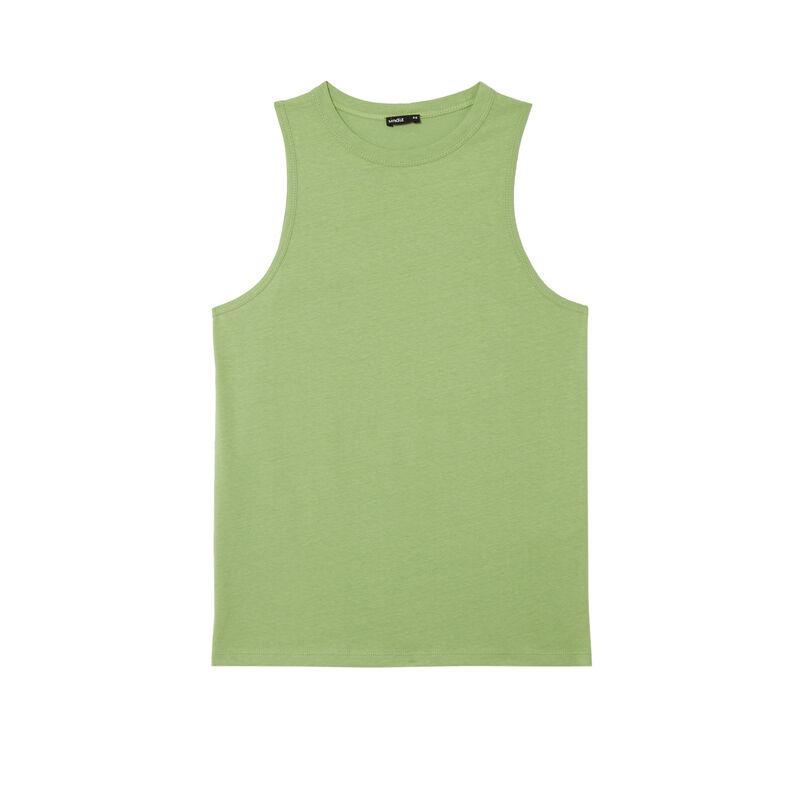 Top sin mangas unisex de punto - verde;