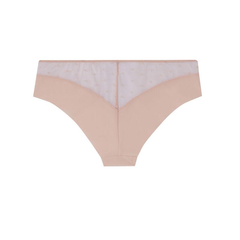 braguita culotte de encaje de corazoncitos - rosa;