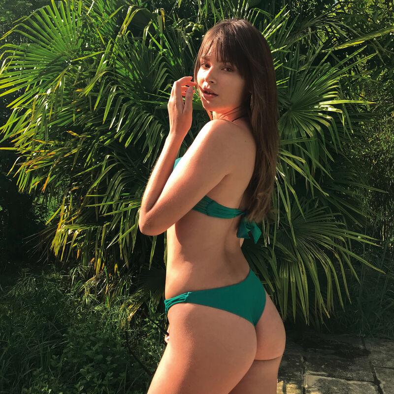 Parte de abajo de bikini braguita brasileña - verde;