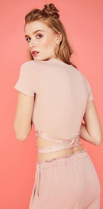 Top rosa empolvado kalaliz pink.