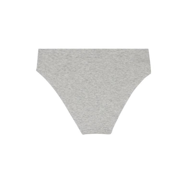 Braguita culotte de algodón liso - gris;