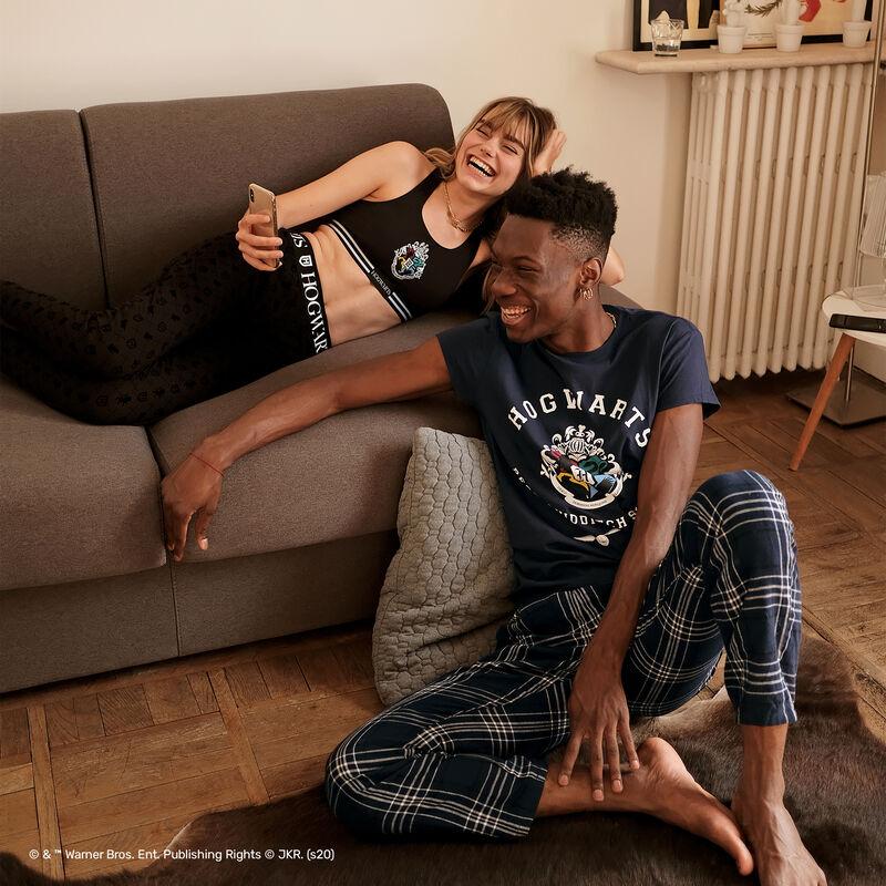 juego de pijama Harry Potter a rayas - azul;