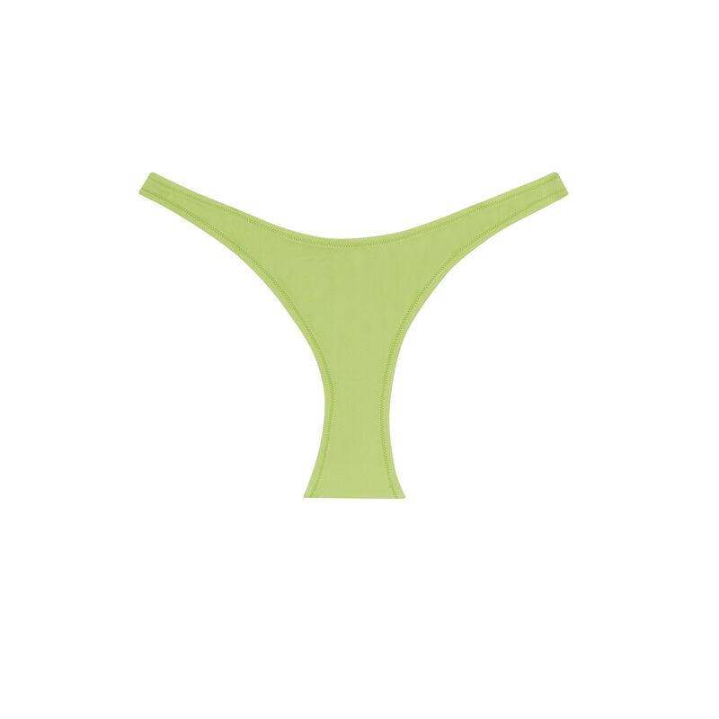 parte de abajo de bikini baja lisa - verde;