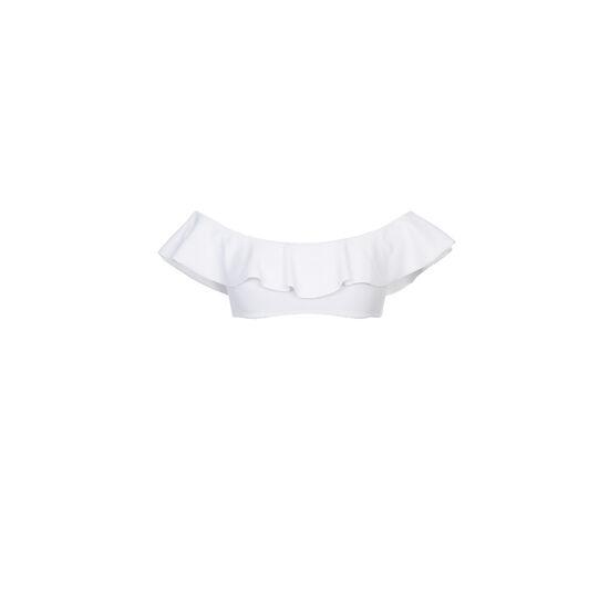 Top de bikini blanco sabliz;