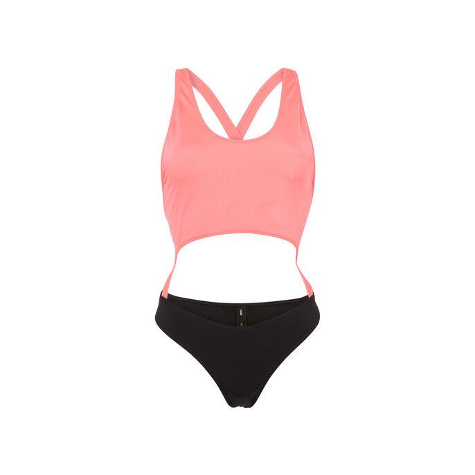 Bañador rosa flúor y negro gigiz pink.