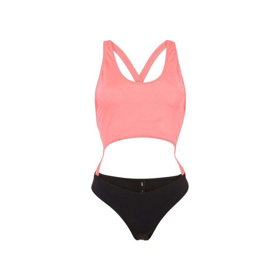Bañador rosa flúor y negro gigiz;