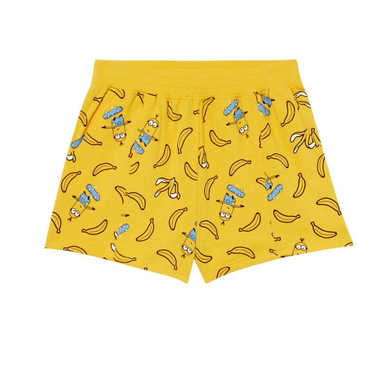 shorts Los Minions con motivos de plátanos - amarillo;