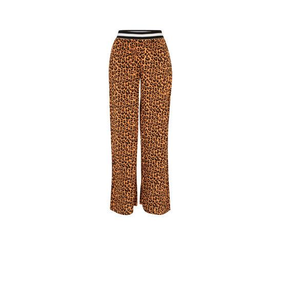 Pantalón con estampado de leopardo realbetia;