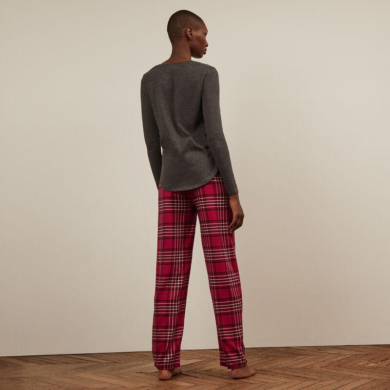 Pantalón a cuadros - rojo;