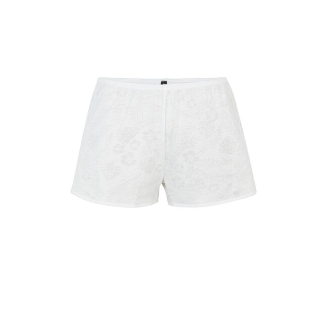 Short blanco tropaliz;