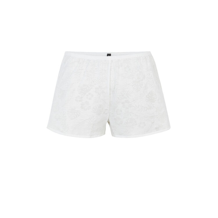 Short blanco tropaliz;