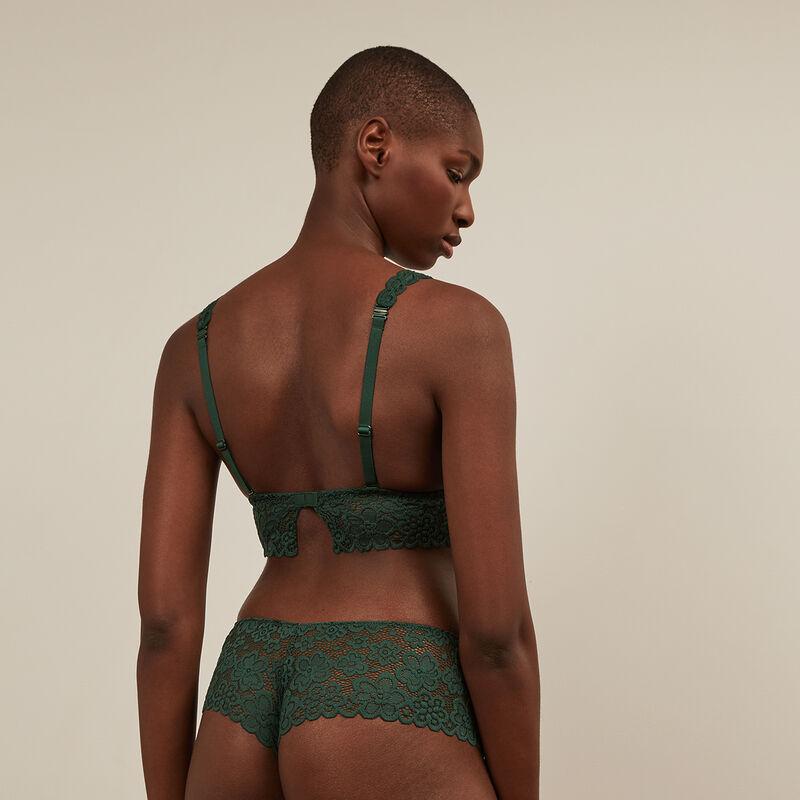braguita culotte de encaje - verde ;