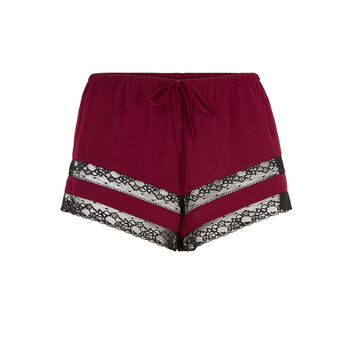 Short burdeos insertiz red.