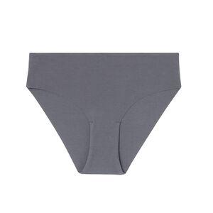 Braguita culotte de algodón liso - gris