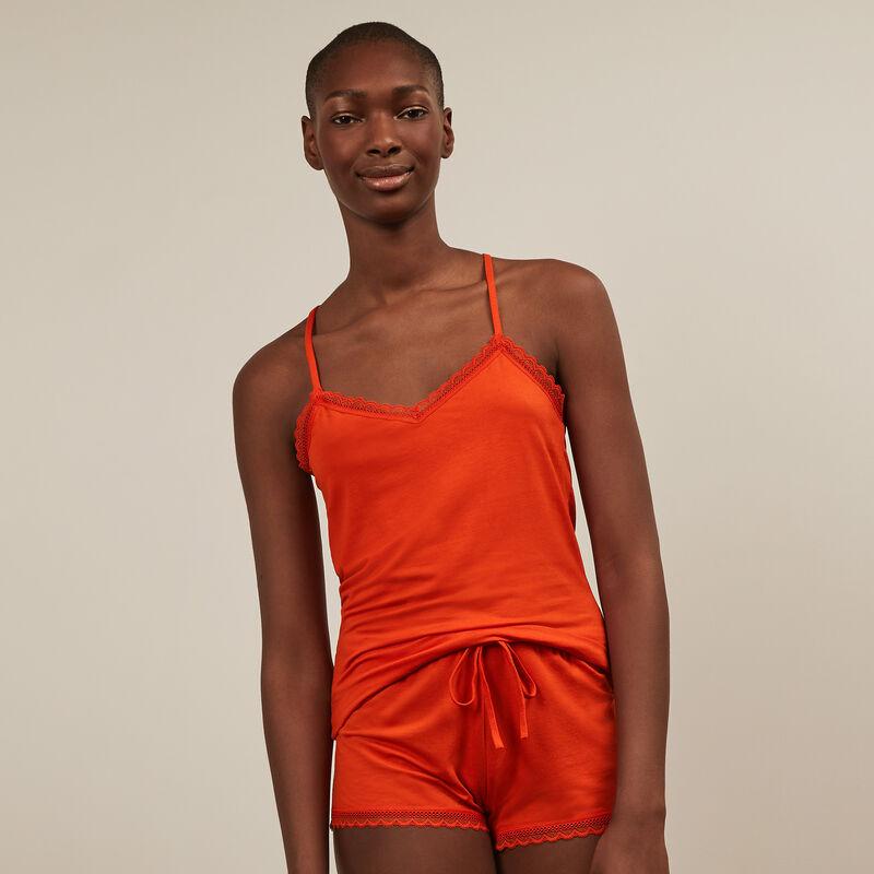 Shorts de punto - naranja;