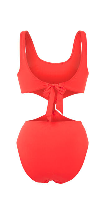 Bañador rojo saltiz red.