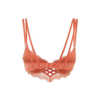 Sujetador corpiño push-up naranja ladrillo totoiz orange.
