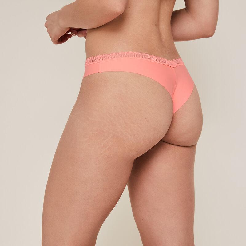 Braguita brasileña lisa rosa de microfibra;