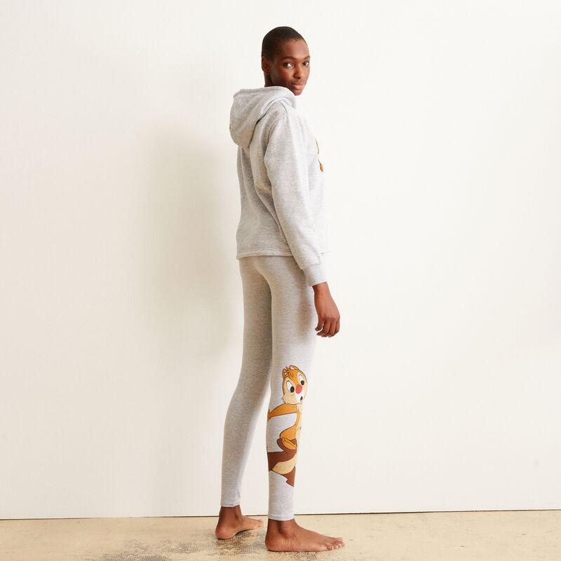 Leggings con estampado Chip y Chop - gris;