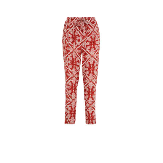 Pantalón con estampado en rojo juleiz;