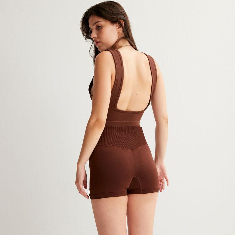 Pantalón corto ciclista - marrón;