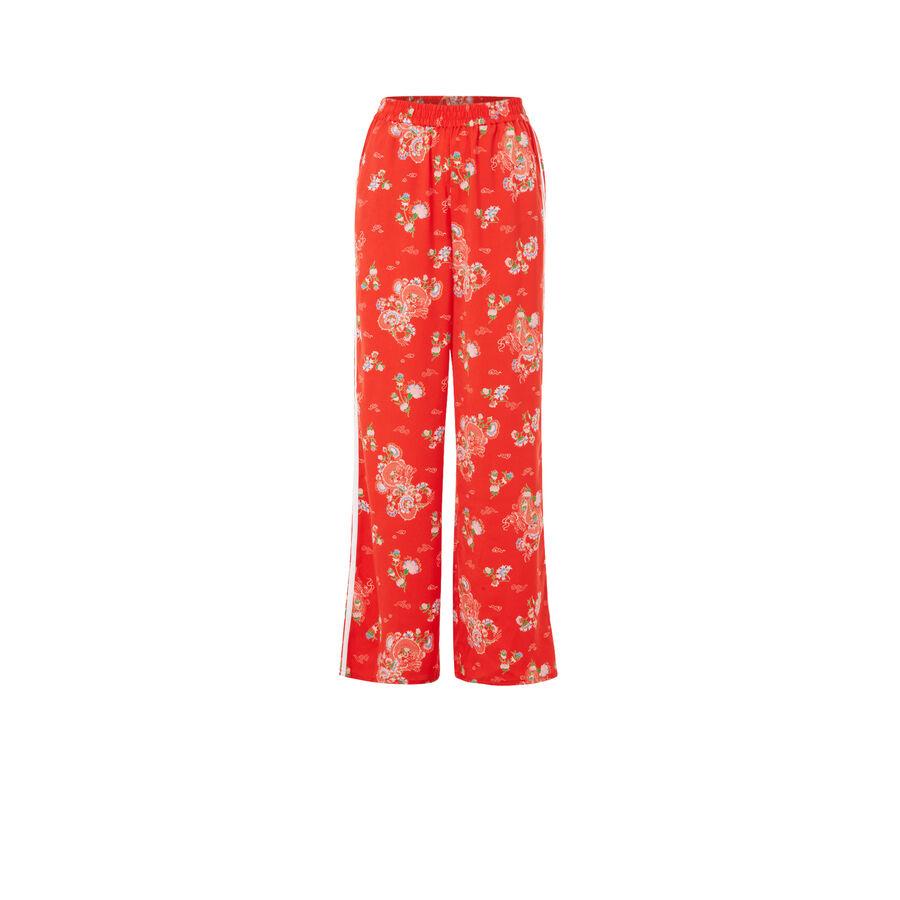 Pantalón rojo japotissiz;