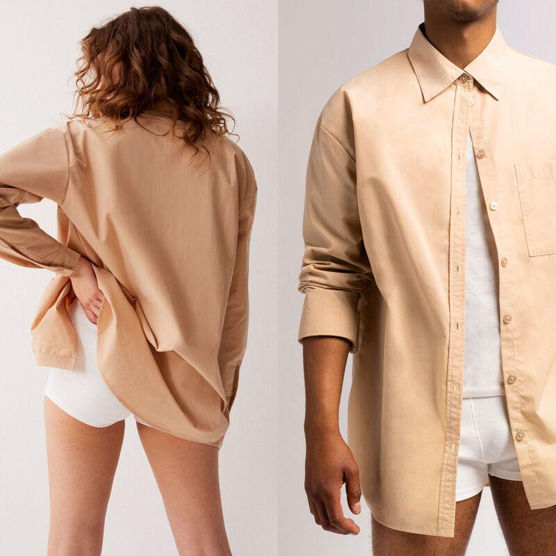 Camisa unisex - beige;