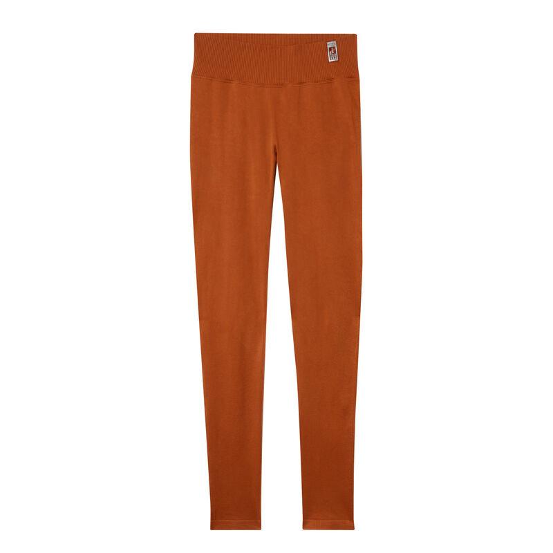 leggings efecto twist - marrón ;