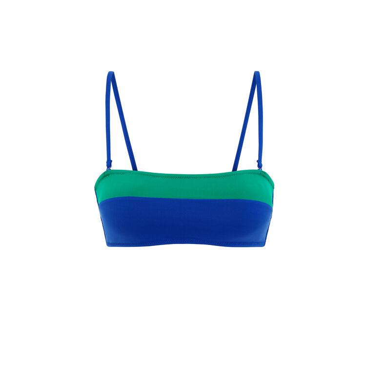Top de bikini sin tirantes verde esmeralda Colorsurfiz;