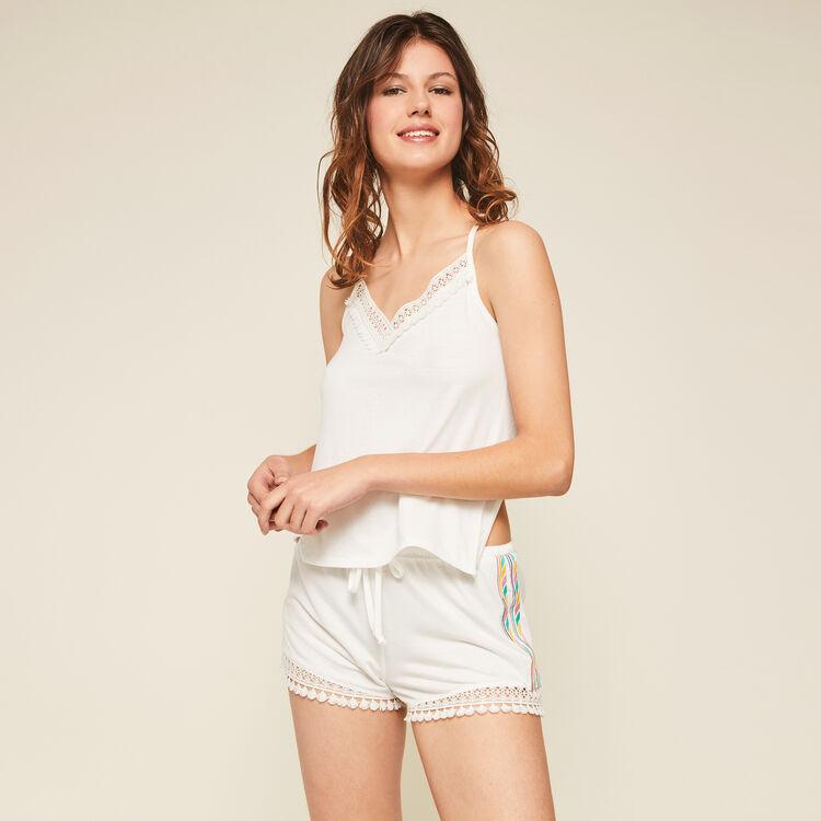 Shorts blancos futurbestiz;