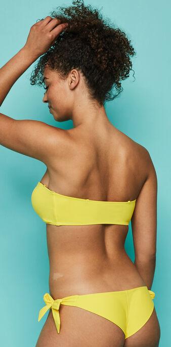 Top de bikini bandeau amarillo sexyknotiz yellow.