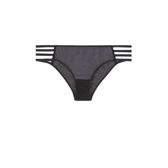 Braguita culotte negra transparentiz;