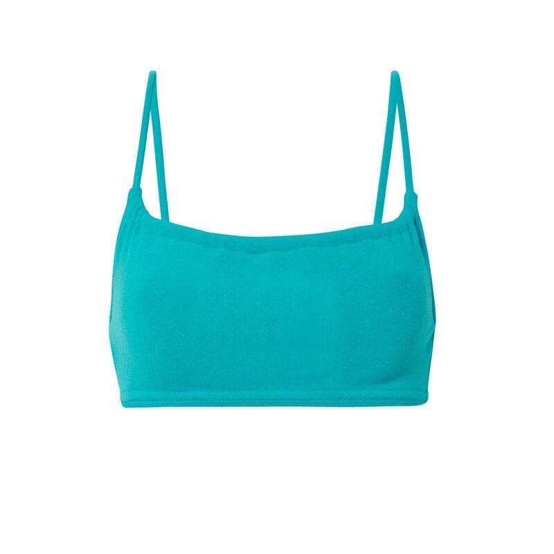 Parte de arriba de bikini sujetador con efecto plisado - azul;