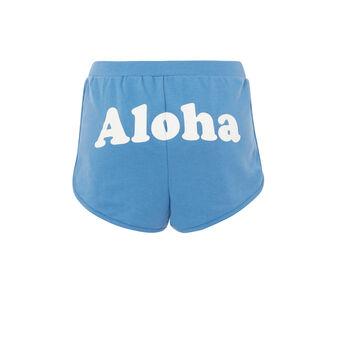 Short azul alohastiz.  blue.