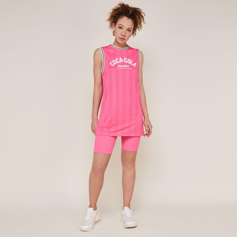Pantalón ciclista de punto rosa fluorescente;