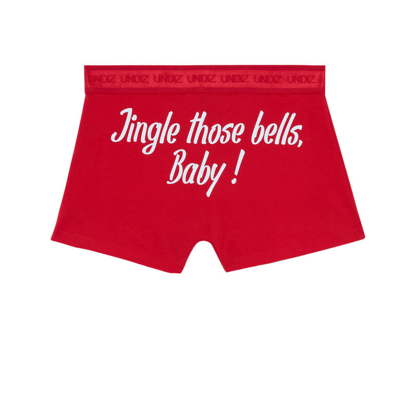 boxer à message jingle bells - rouge ;